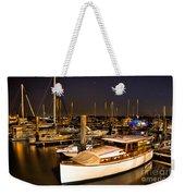 Beaufort Sc Night Harbor Weekender Tote Bag by Reid Callaway