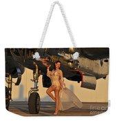 Beautiful 1940s Pin-up Girl Standing Weekender Tote Bag