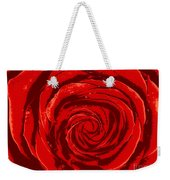 Beautiful Abstract Red Rose Illustration Weekender Tote Bag