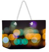 Beautiful Background On Dark Out Of Focus Lights During The Nig Weekender Tote Bag