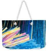 Beautiful Benzoic Acid  Microcrystals Abstract Art Weekender Tote Bag