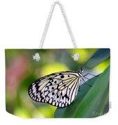 Beautiful Black N White Rice Paper Butterfly Weekender Tote Bag