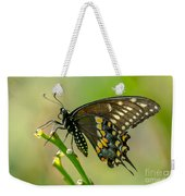 Beautiful Black Swallowtail Weekender Tote Bag
