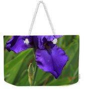 Beautiful Purple Iris Flower Art Weekender Tote Bag