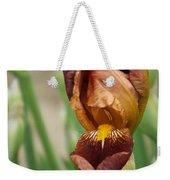 Beautiful Brown Bearded Iris Weekender Tote Bag