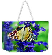 Beautiful Butterfly On A Flower Weekender Tote Bag