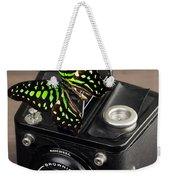 Beautiful Butterfly On A Kodak Brownie Camera Weekender Tote Bag