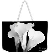 Beautiful Calla Lilies In Black And White Weekender Tote Bag