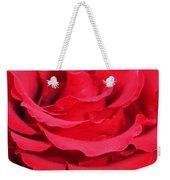 Beautiful Close Up Of Red Rose Petals  Weekender Tote Bag