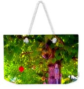 Beautiful Colored Glass Ball Hanging On Tree 2 Weekender Tote Bag