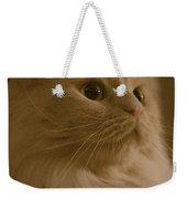 Beautiful Creamy Persian Cat Mix Portrait Weekender Tote Bag