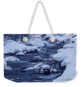 Beautiful Creek In Winter In Stanley Idaho Weekender Tote Bag