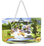 Beautiful Day At The Baptist Home Of The Ozarks In Watercolor Weekender Tote Bag by Kip DeVore