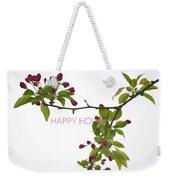 Beautiful Floral Greetings Weekender Tote Bag