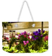 Beautiful Flowers Inside The Changi Airport Weekender Tote Bag
