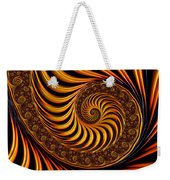 Beautiful Golden Fractal Spiral Artwork  Weekender Tote Bag