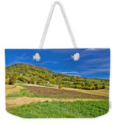 Beautiful Green Hill With Vineyard Cottages Weekender Tote Bag