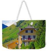 Beautiful House In Mont Blanc Weekender Tote Bag
