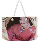 Beautiful Japanese Woman Weekender Tote Bag