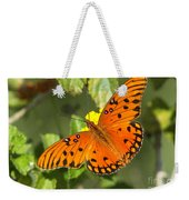 Beautiful Orange Butterfly - Gulf Fritillary Weekender Tote Bag
