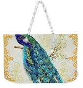 Beautiful Peacock-b Weekender Tote Bag