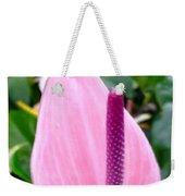 Beautiful Pink Anthurim Flower Weekender Tote Bag