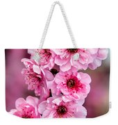 Beautiful Pink Blossoms Weekender Tote Bag by Robert Bales