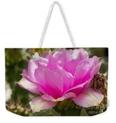 Beautiful Pink Cactus Flower Weekender Tote Bag