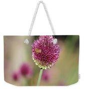Beautiful Pink Flower With Bee Weekender Tote Bag
