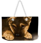 Beautiful Puppy Weekender Tote Bag by Veronica Minozzi