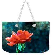 Beautiful Red Rose Weekender Tote Bag