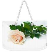 Beautiful Rose On White Weekender Tote Bag