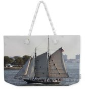 Beautiful Sailboat In Manhattan Harbor Weekender Tote Bag