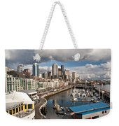Beautiful Seattle Sky Weekender Tote Bag by Mike Reid