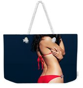 Beautiful Sexy Woman In Red Bikini In Water Weekender Tote Bag