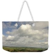 White Clouds Over Yorkshire Dales Weekender Tote Bag