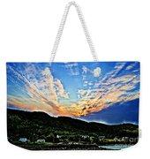 Beautiful Sky Over The Harbour Digital Painting Weekender Tote Bag