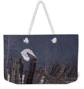 Beautiful Snowy Owl Flying Weekender Tote Bag