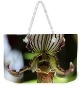 Beautiful Striped Lady Slipper Weekender Tote Bag