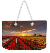 Beautiful Tulip Field Sunset Weekender Tote Bag