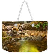 Beautiful View Of Upper Falls Located In Uvas Canyon County Park Forest Reflection Weekender Tote Bag
