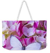 Beautiful White Butterfly Weekender Tote Bag