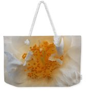 Beautiful White Rose Weekender Tote Bag
