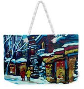 Beautiful Winter Evening Weekender Tote Bag