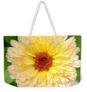 Beautiful Yellow Marigold Goldbloom Close Up  Weekender Tote Bag
