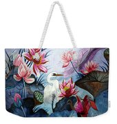 Beauty Of The Lake Hand Embroidery Weekender Tote Bag