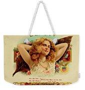 Beauty Vintage Cigar Advertisement  Weekender Tote Bag