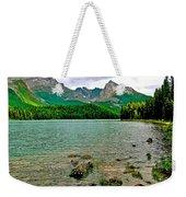 Beauvert Lake In Jasper Np-ab Weekender Tote Bag