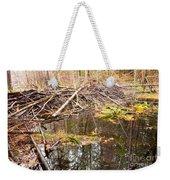 Beaver Dam In Fall Colored Forest Wetland Swamp Weekender Tote Bag
