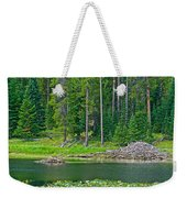 Beaver Dam In Heron Pond In Grand Teton National Park-wyoming Weekender Tote Bag